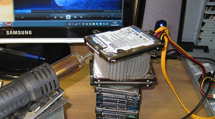 HDD при максимально возможной температуре