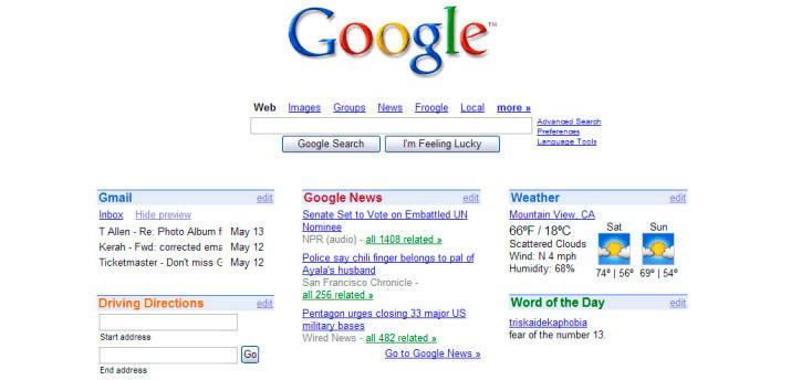 igoogle-in-2005