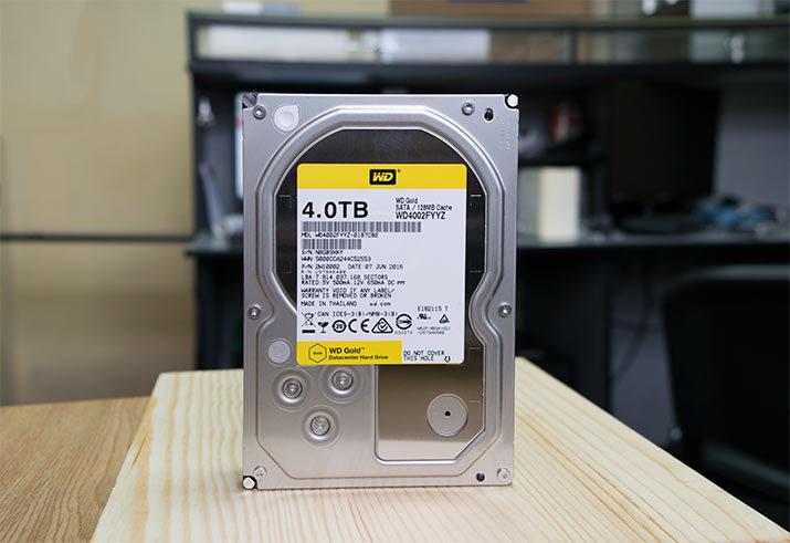 Внешний вид жесткий диск WD Gold 4 Тб